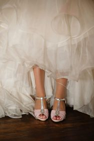 Pink + Silver Bridal Shoes