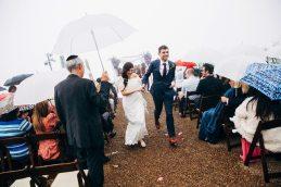 Rainy California Canyon Wedding