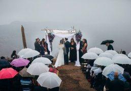 Rainy Solstice Canyon Wedding California