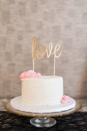 Simple Elegant Wedding Cake
