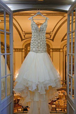 Vintage 1920s Mermaid Wedding Gown