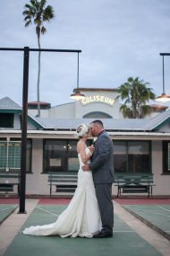 Vintage Style Wedding St Petersburg Shuffleboard Club