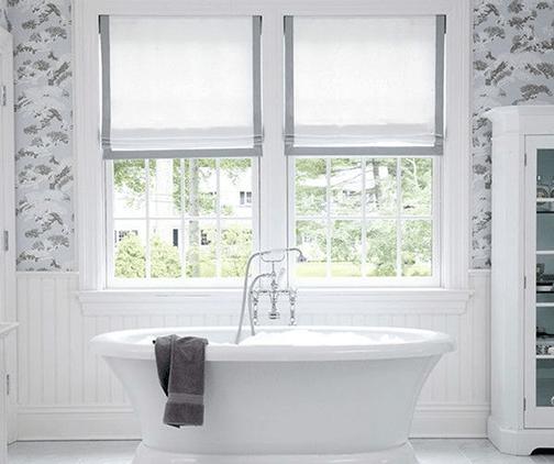 9 bathroom window treatment ideas
