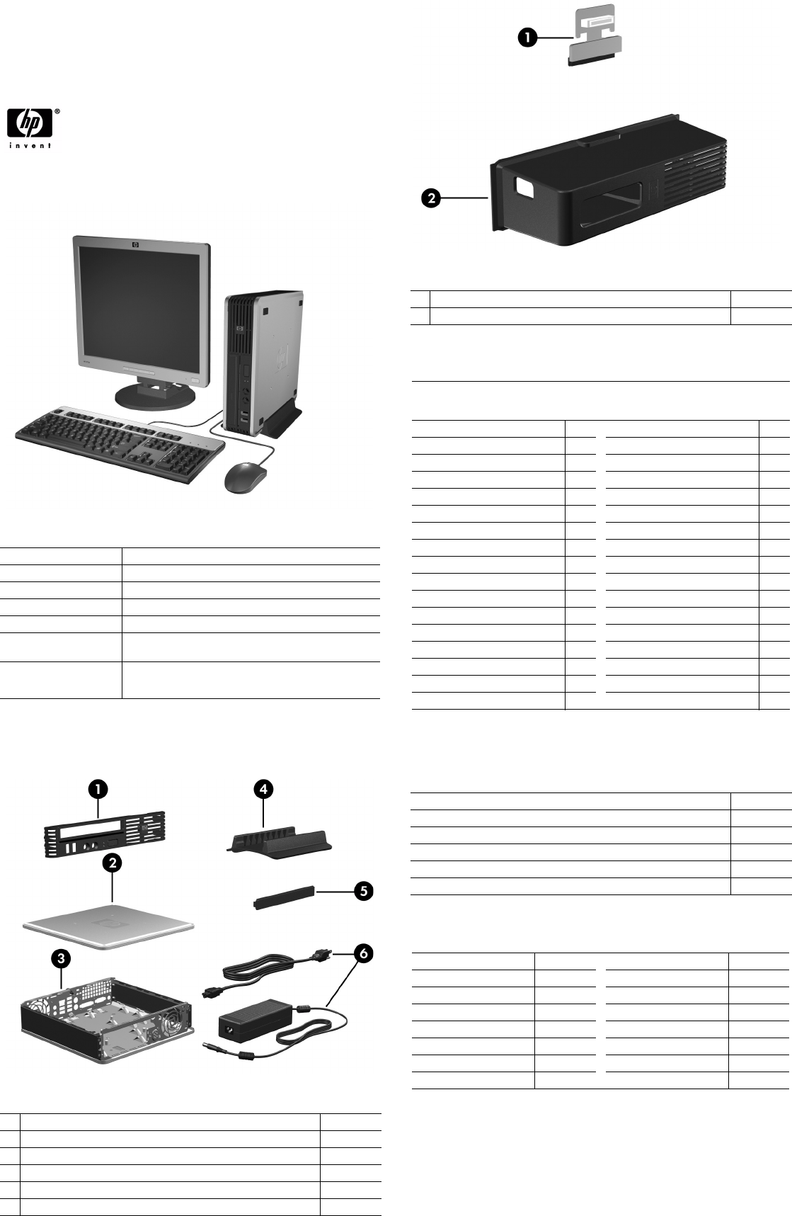 Illustrated Parts & Service Map HP Compaq dc7800 Ultra