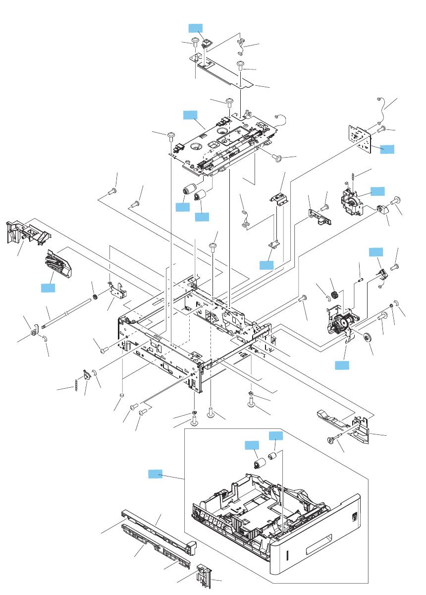 medium resolution of 500 sheet feeder main body