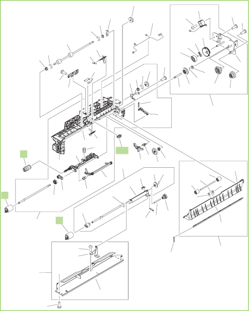 small resolution of figure 9 16 printer cassette paper pickup assembly