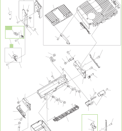 figure 9 45 output bin 1 stack upper tray assembly 1 of 2 stapler stacker  [ 958 x 1200 Pixel ]