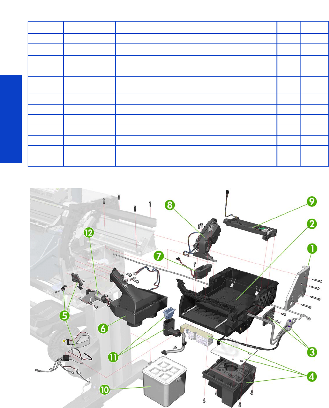 hight resolution of parts and diagrams