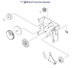 LaserJet 5200 Feed Drive Assembly :: Drive Assembly
