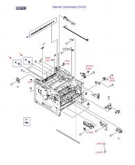LaserJet M3027 M3035 P3005 Delivery Roller Assembly