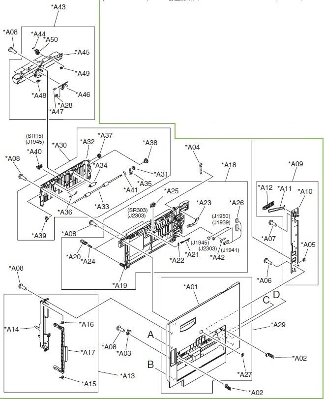 RIGHT DOOR SUB ASS Y :: Door :: Printers and Multifunction