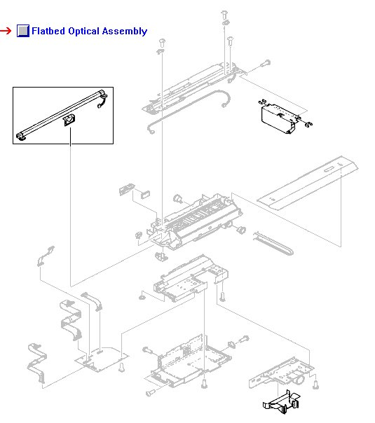 RG5-6263-070CN HP New Flatbed scanner optical assembly