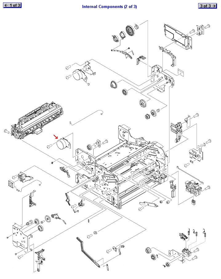 FUSER MOTOR ASSEMBLY :: Motor :: Printers and