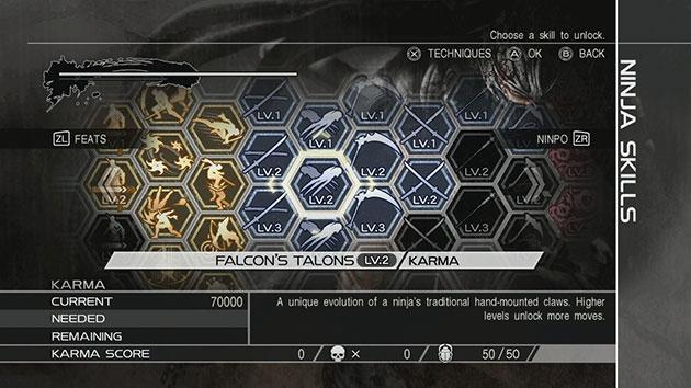 Skill Ninja Gaiden 3 Razors Edge 01
