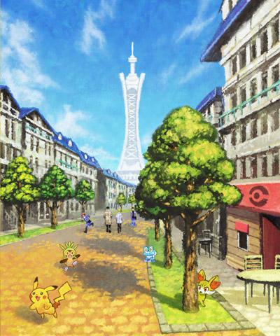 pokemon ciudad luminalia arte
