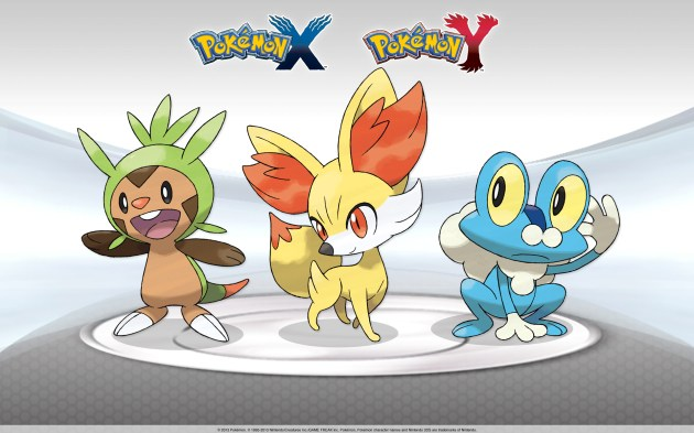 pokemon x y starters wallpaper