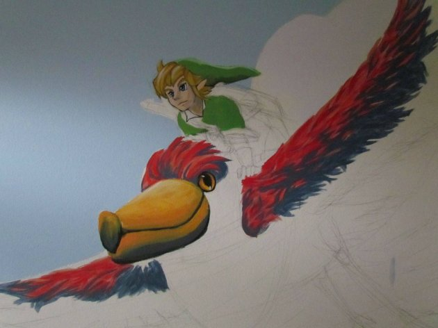 Zelda Skyward Sword pintura 07