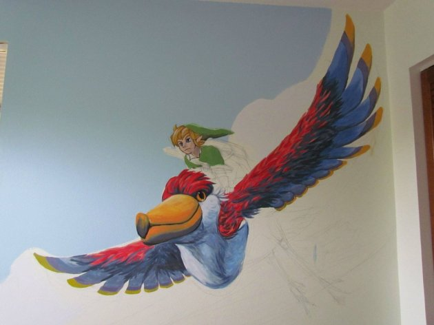 Zelda Skyward Sword pintura 10