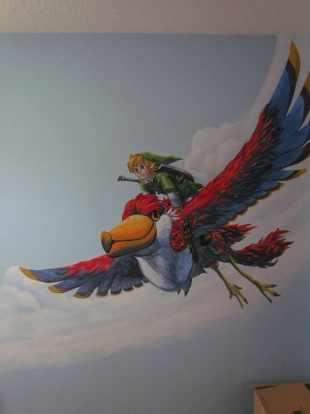 Zelda Skyward Sword pintura 19