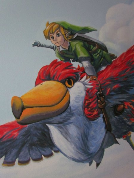 Zelda Skyward Sword pintura 22