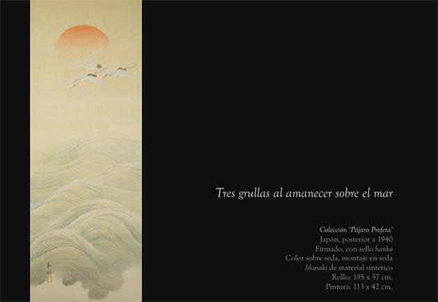 tres-grullas-al-amanecer-sobre-el-mar