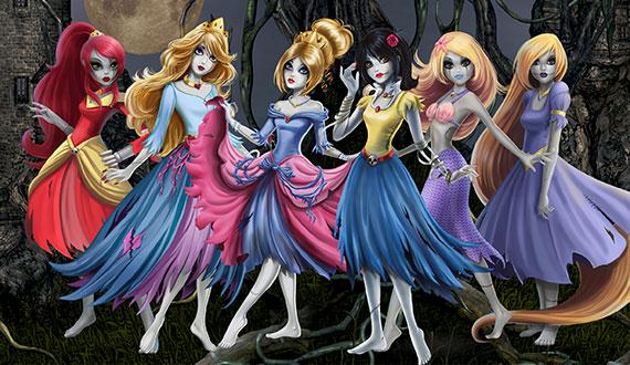 princesa zombie disney luk