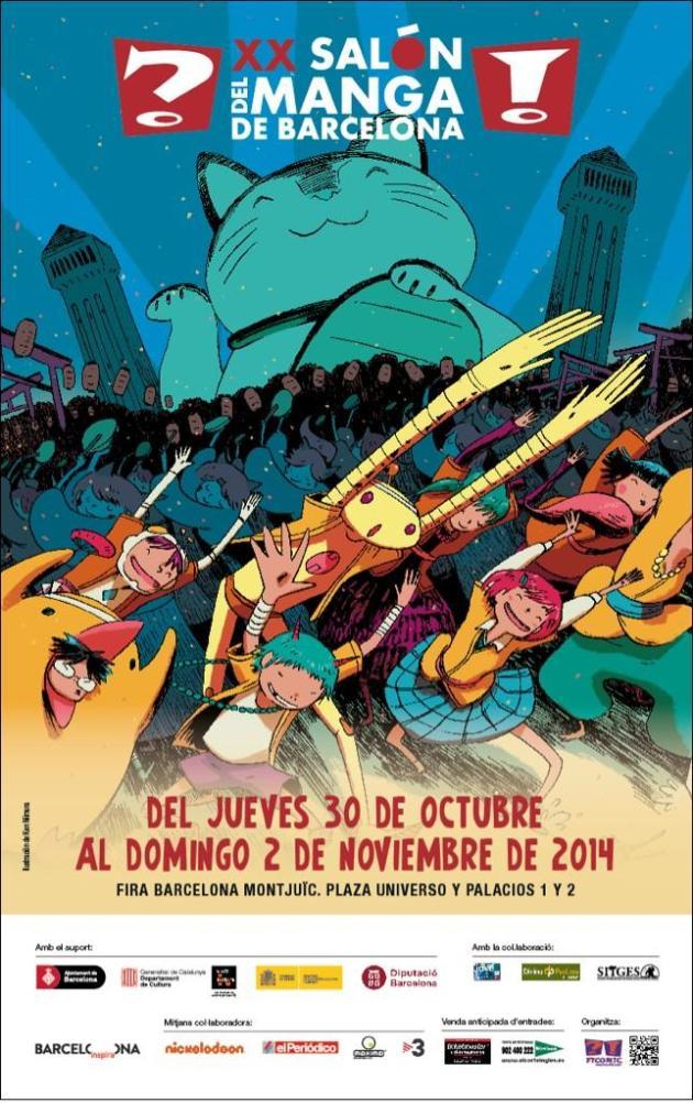 cartel XX Salon Manga Barcelona