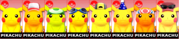 Pikachu Palette Super Smash Bros 3DS