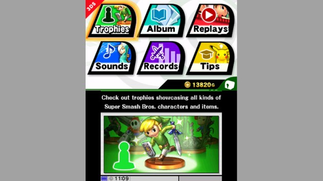 Super Smash Bros 3DS Menu 04
