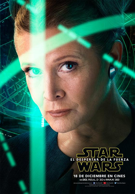 Leia Star Wars El despertar de la fuerza
