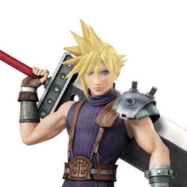 Cloud Strife Super Smash Bros traje 1