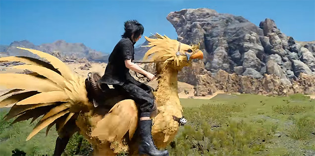 Chocobo ride Final Fantasy XV