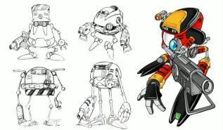 Arte Conceptual Robot