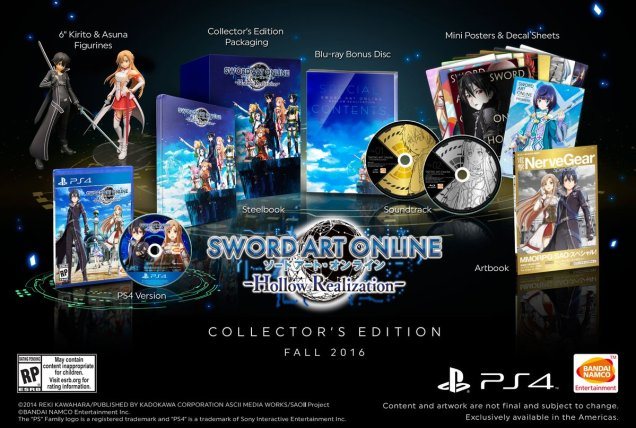 Sword Art Online Hollow Realization Collector USA