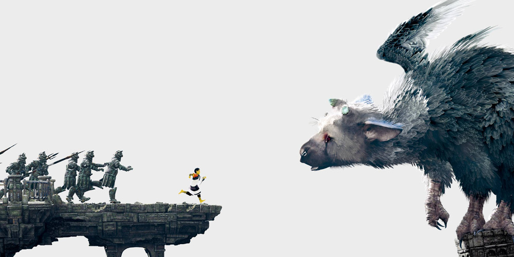 The Last Guardian Trico niño