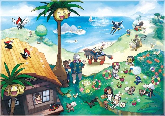 Pokemon Sol Luna Alola arte