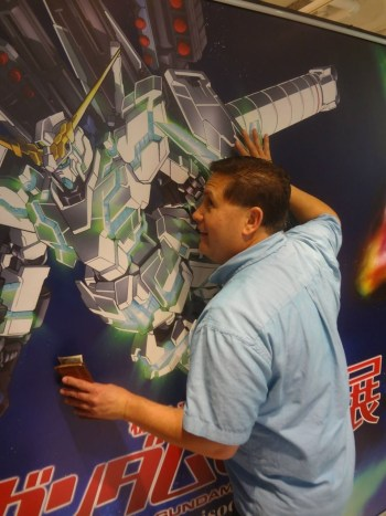 Did we mention that Tom likes Gundam?
