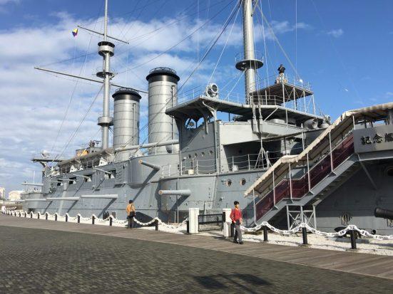 The exhibit was held on the Memorial Ship MIKASA in Yokosuka.
