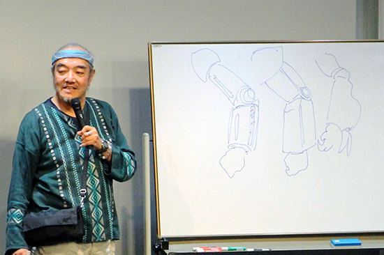 Kazutaka Miyatake talkshow. Photo courtesy of Sunrise.