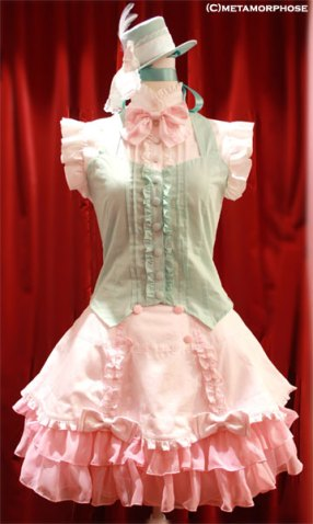 (Megumi's was basically an all-white, less-frilly version of something resembling this.)
