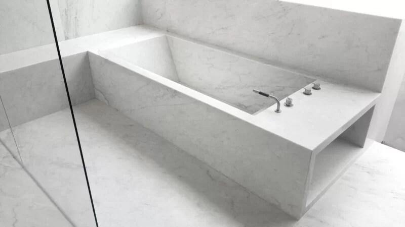 Beyaz Carrara Mermer Banyo