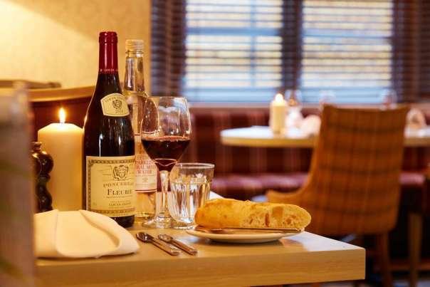 Restaurant at the Deddington Arms Hotel Oxfordshire