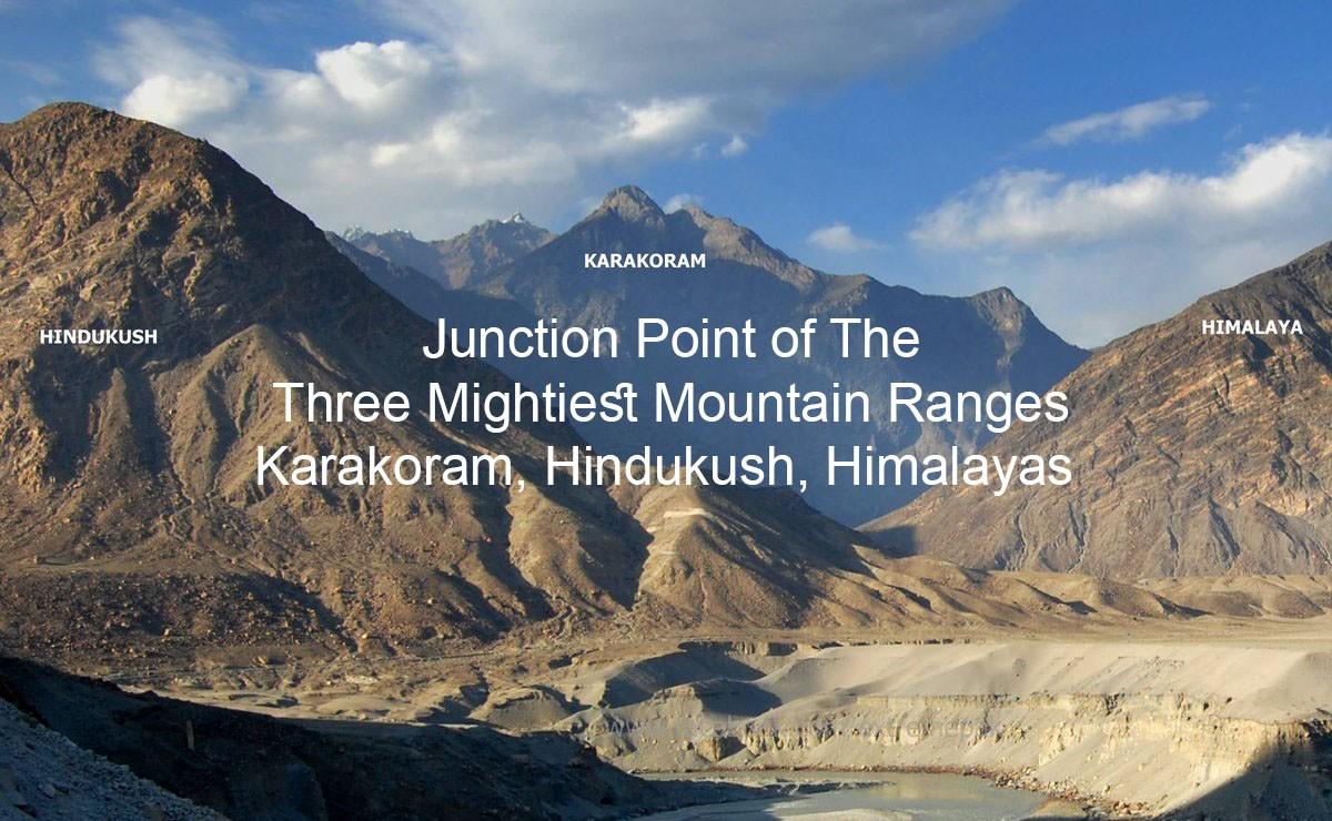 Junction Point of The Three Mightiest Mountain Ranges Karakoram, Hindukush, Himalayas