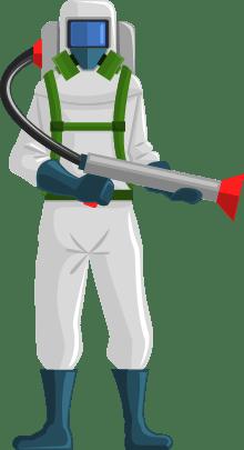 Ilustração de profissional de controle de pragas