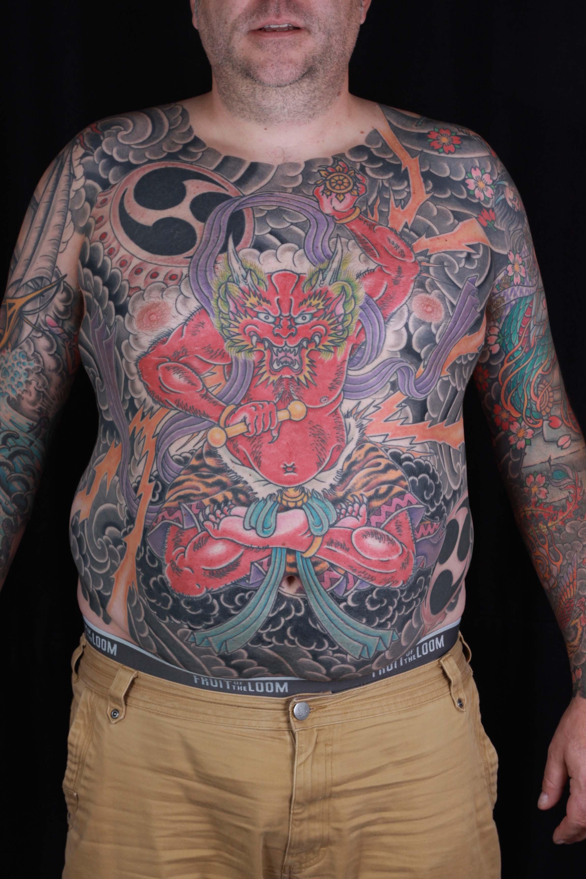 Pharaohs Horses Stomach Tattoo