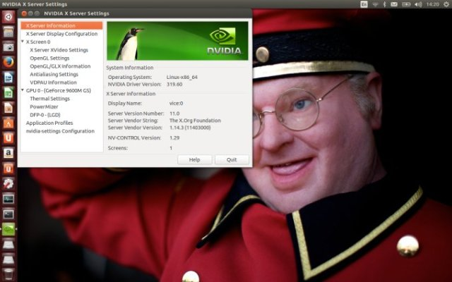 Nvidia drivers installed