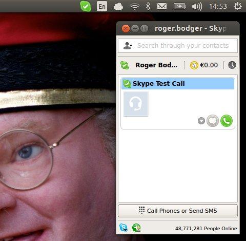 Skype running