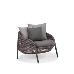 White Lounge Chair Cushions Blue Checked Covers Dedon Ahnda