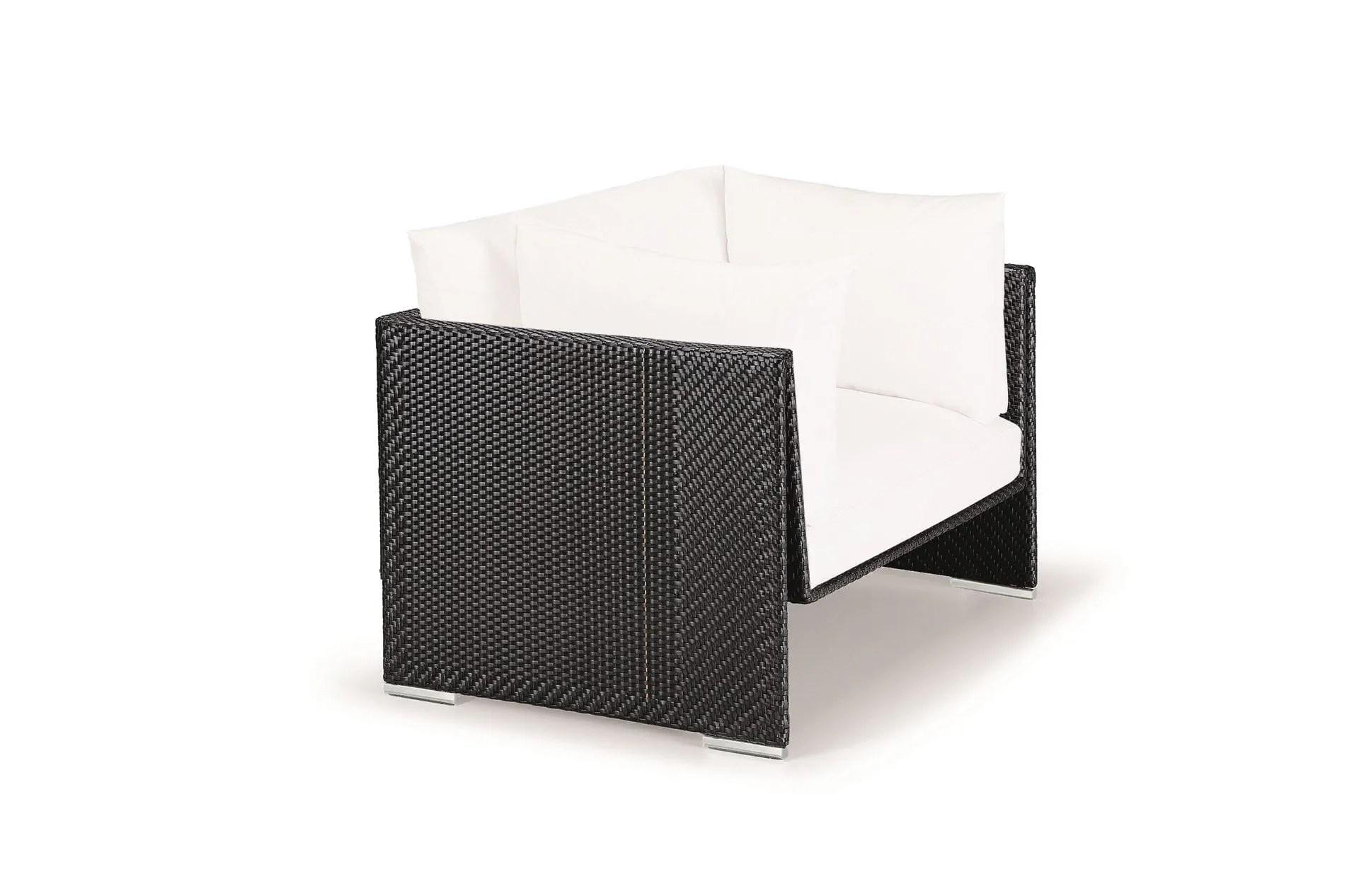 acrylic side chair with cushion wheel for office dedon | slim line lounge