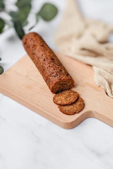 Chorizo vegano bocadillos